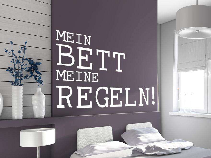 Ausgefallenes Wandtattoo Mein Bett  von Wandtattoonet