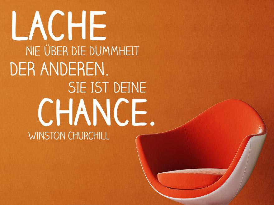 Wandtattoo Deine Chance Zitat Winston Churchill von wandtattoonet