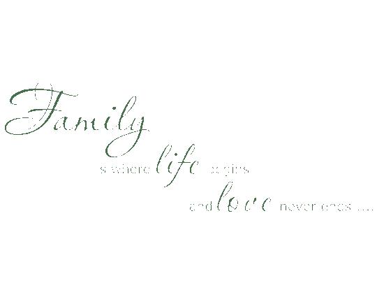 Englisches Wandtattoo Family is von wandtattoonet