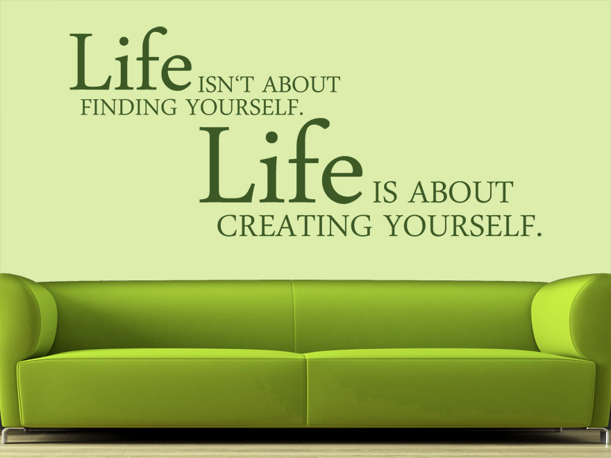 Products Spruch Lebendig Wandtattoo Creating Yourself L