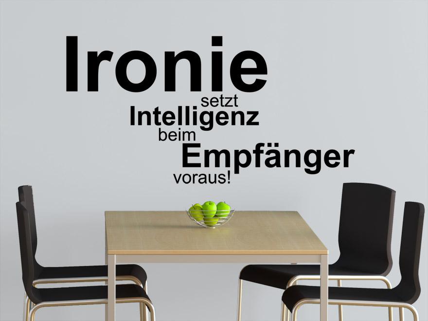 Wandtattoo Spruch Ironie von Wandtattoonet