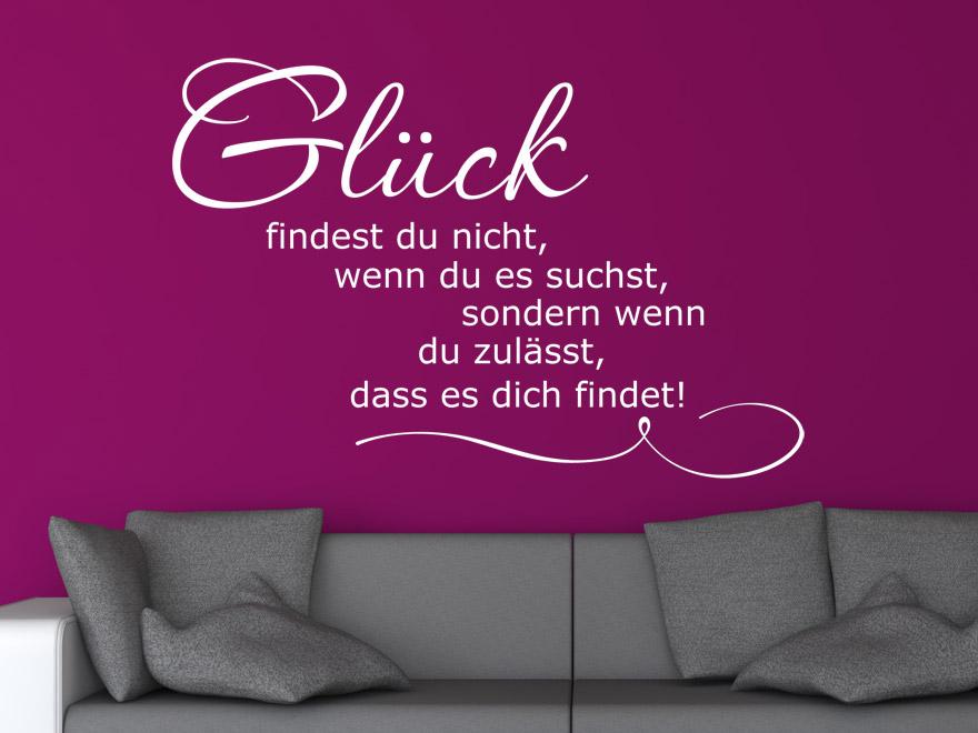Wandtattoo Spruch Glck von Wandtattoonet