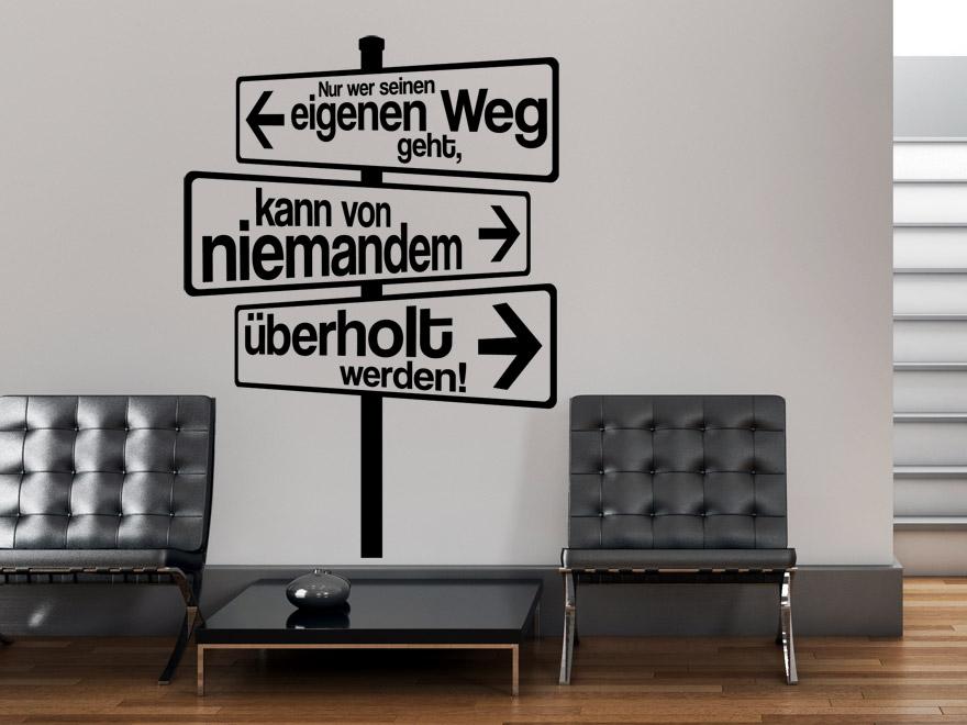 Wandtattoo Spruch Eigener Weg von Wandtattoonet