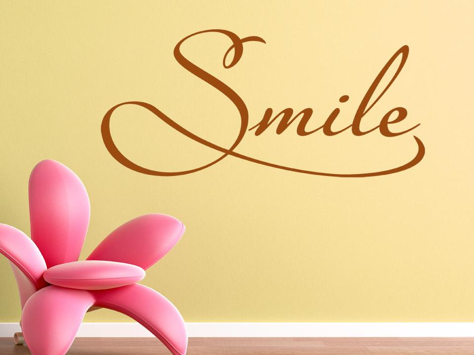 Wandtattoo Smile englisch von Wandtattoonet