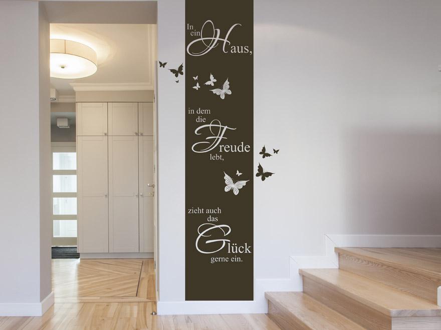 Banner In ein Haus von Wandtattoonet