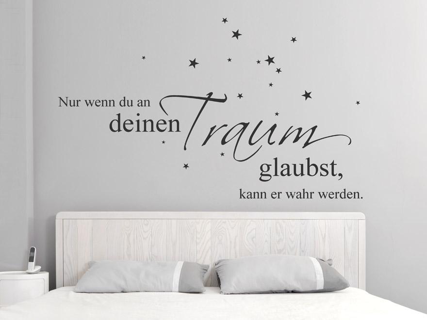 Wandtattoo Glaub an deinen Traum von Wandtattoocom