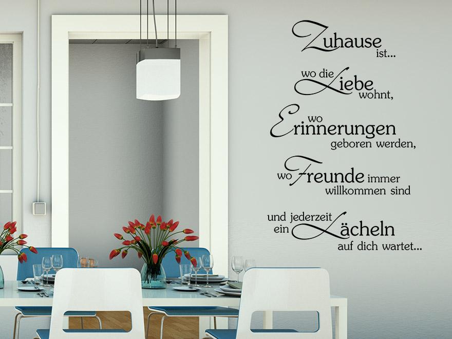 Wandtattoo Spruch Stilvolles Zuhause von Wandtattoonet