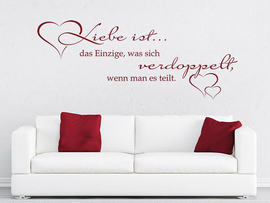 Wandtattoo Liebe ist das Einzige von Wandtattoonet