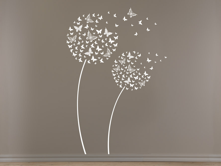Wandtattoo Blume Schmetterling von Wandtattoonet