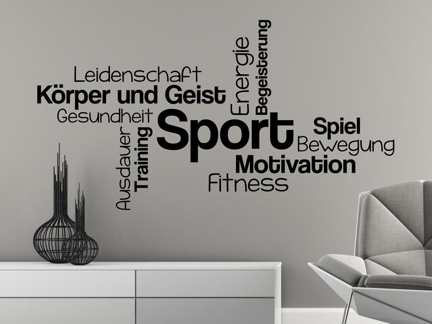 Wandtattoo Sport Begriffe von Wandtattoonet