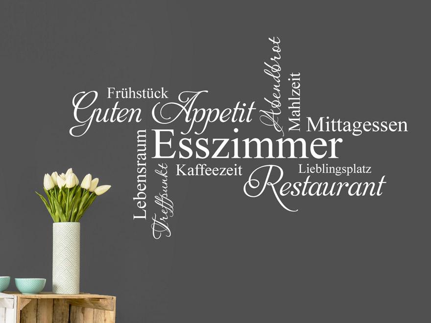 Wandtattoo Guten Appetit Esszimmer Begriffe von Wandtattoonet