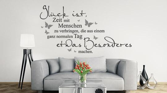 Poster Sprche Wohnzimmer