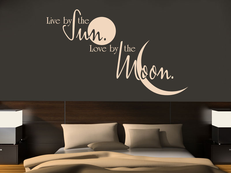 Download Wandtattoo Live by the sun. Love by the moon. - Wandtattoos.de