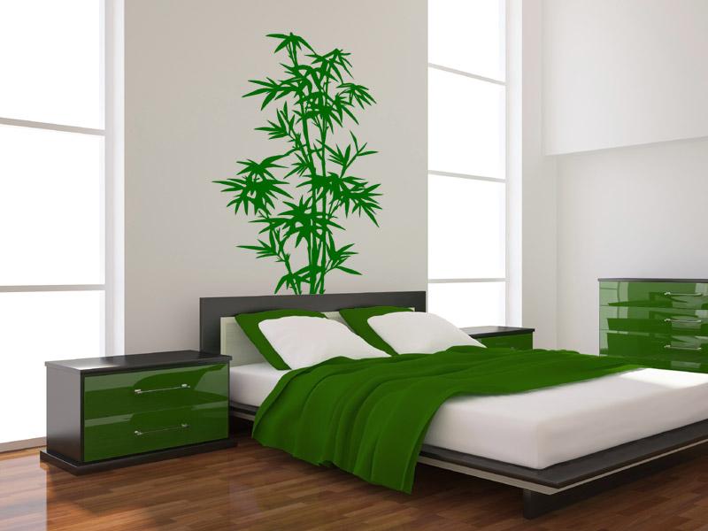 Wandtattoo Bambus  dekorativer Bambus  Wandtattoosde