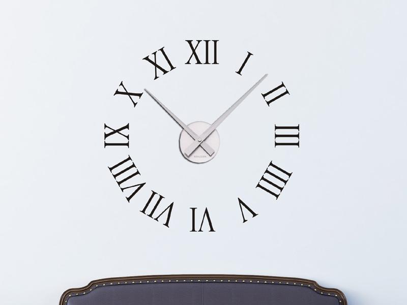 Wandtattoo Uhr Rmische Zahlen Wanduhr  Wandtattoosde