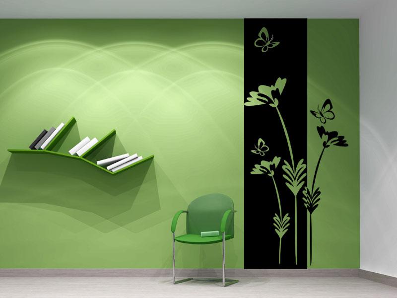 Banner Pflanze Wandtattoo Wandbanner Pflanze mit