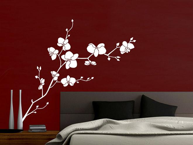 Wandtattoo Orchidee mit schnen Blten  Wandtattoosde