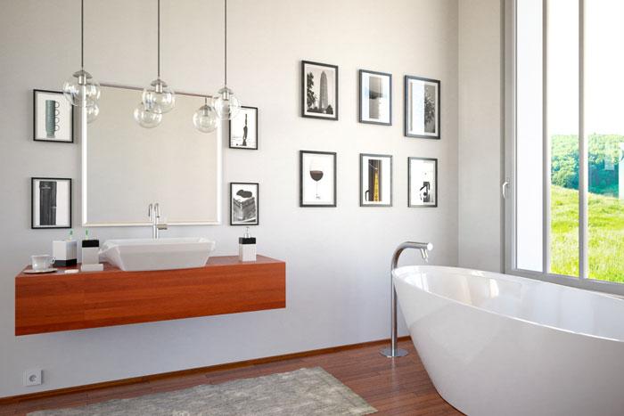 Wanddekoration im Badezimmer  Farben Bilder  Deko frs Bad