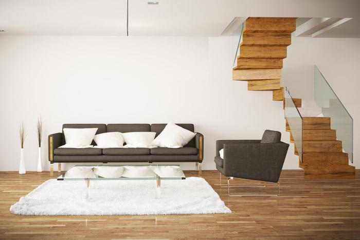Offene Wohnung  Wohnkche Schlafzimmer und Bad ohne Wnde