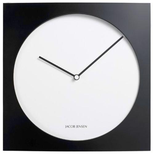Jacob Jensen  Wanduhr Uhr  Farbe SchwarzWei  Aluminium  35 x 35 cm  zeitloses dnisches