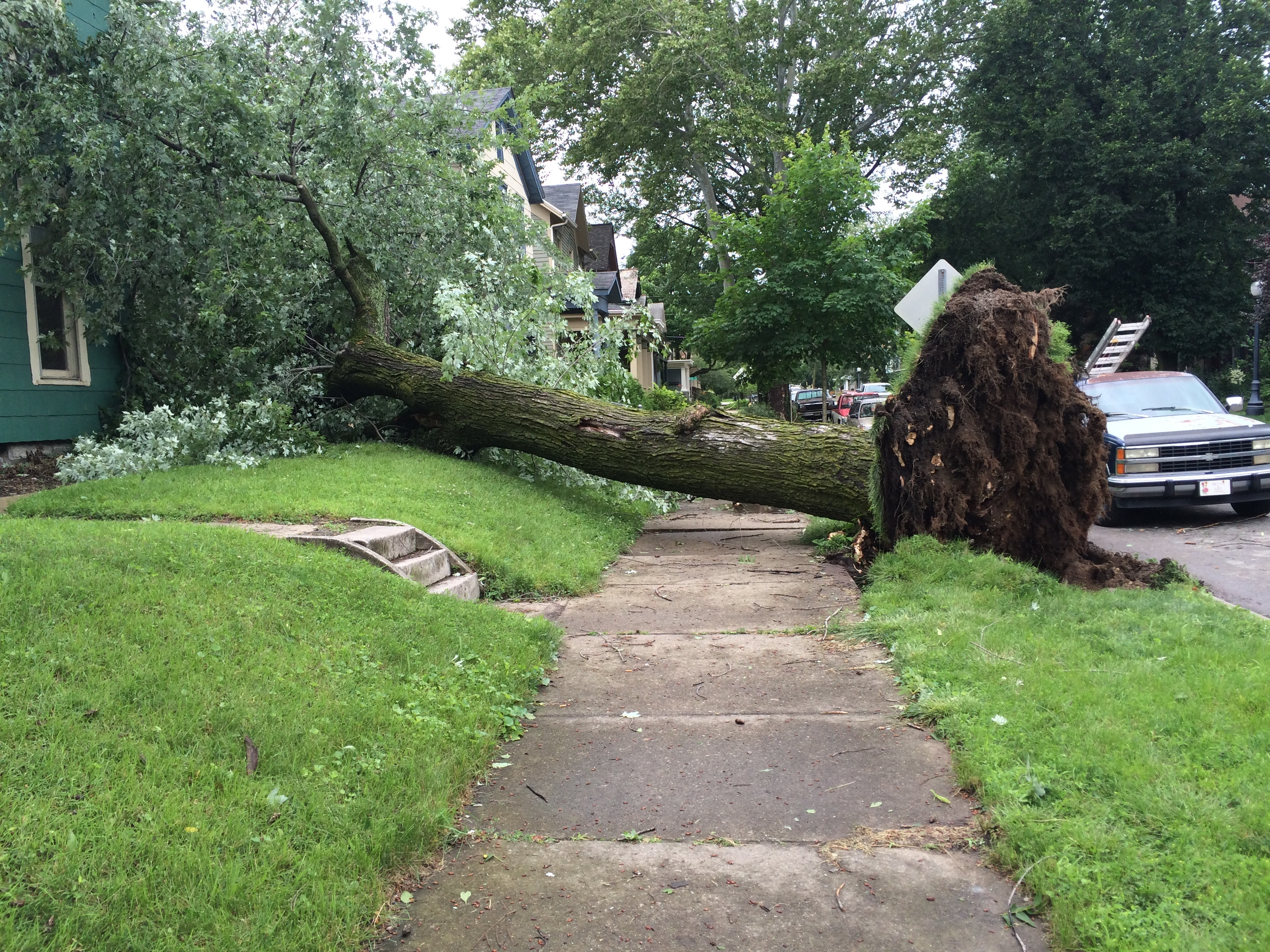 High Winds And Heavy Rain Cause Flash Flooding And Storm