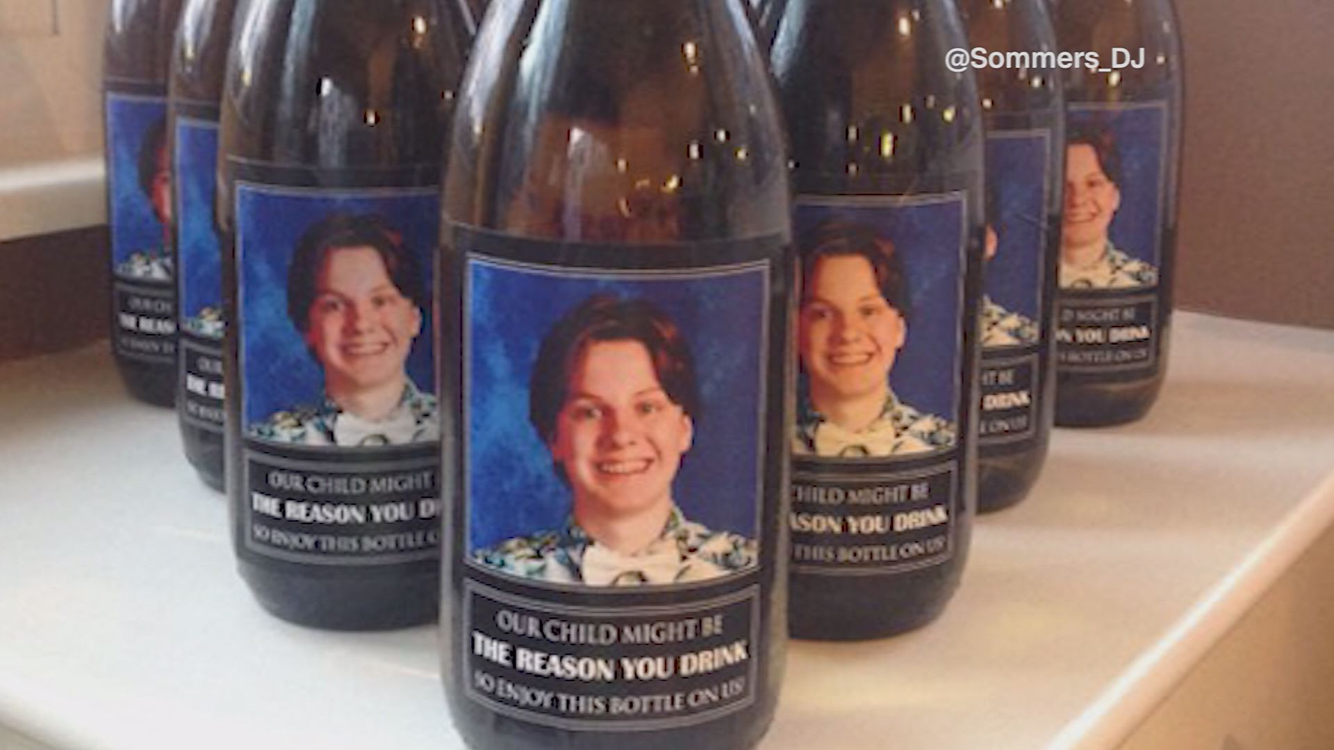 Parents Give Teachers Wine With Picture Of Son S Face