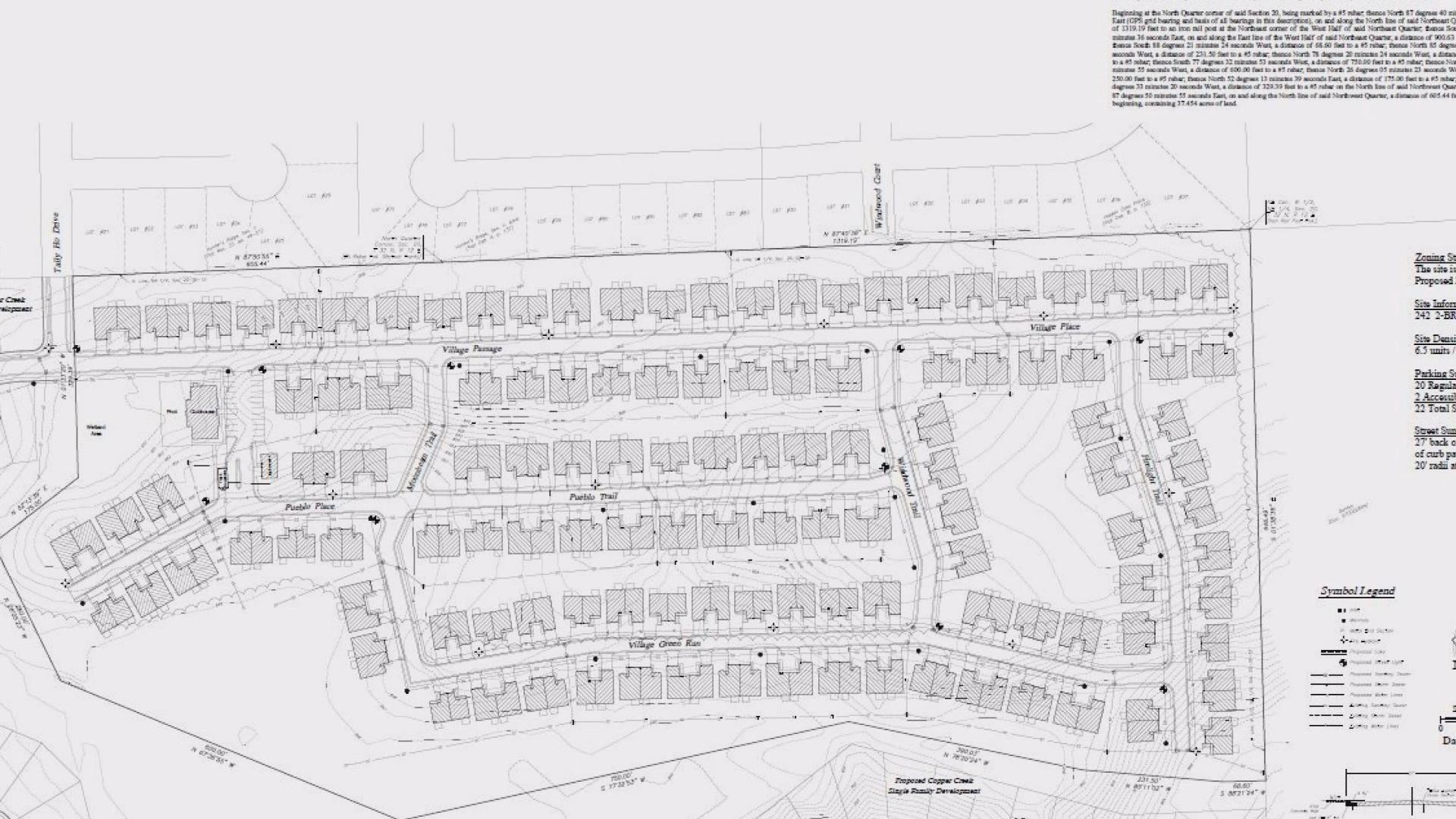 Huntertown housing development project