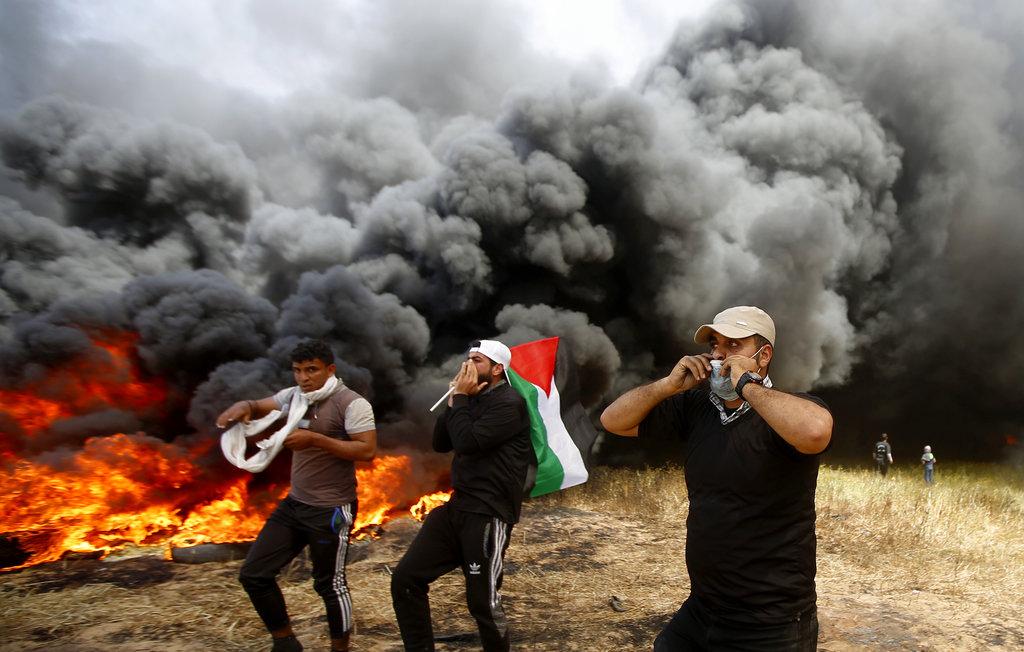 Palestinians Israel protests