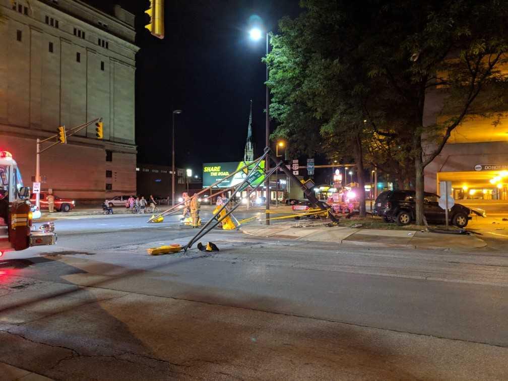 downtown crash clinton and washington