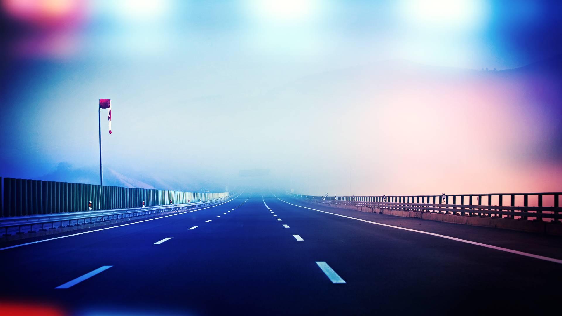 Police Lights Highway
