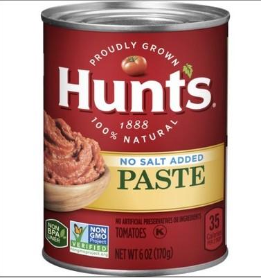 Hunts tomato paste recall