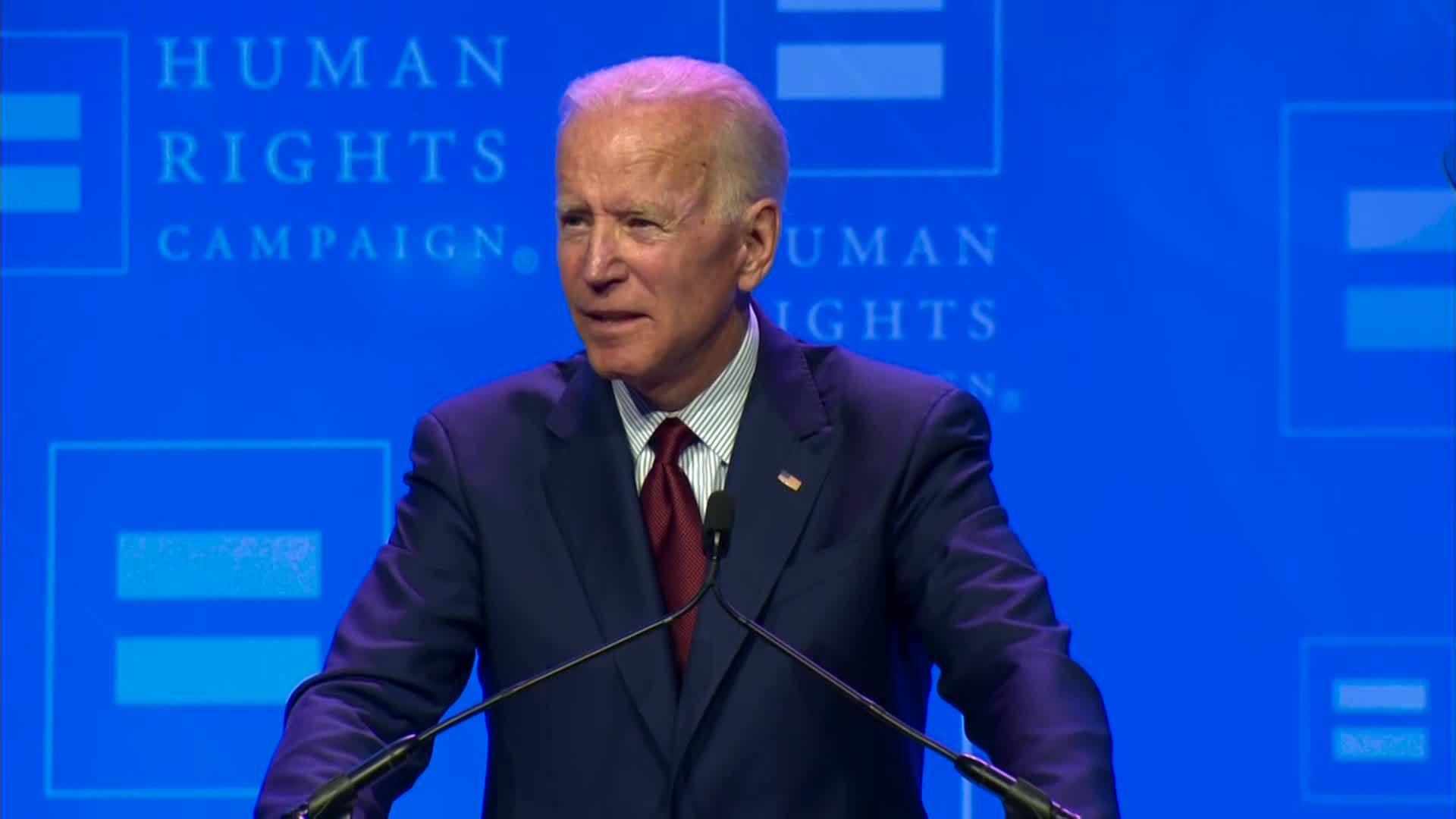 Biden: End Trump administration, transgender violence