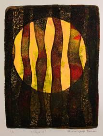 Hope I, monotypi, blandteknik, 15x20 cm. ©Maria Wangi Ibohm