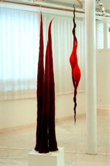 Tornar och Kapslar, skulpturer i tovad ull. ©Maria Wangi Ibohm, , Maria Backström