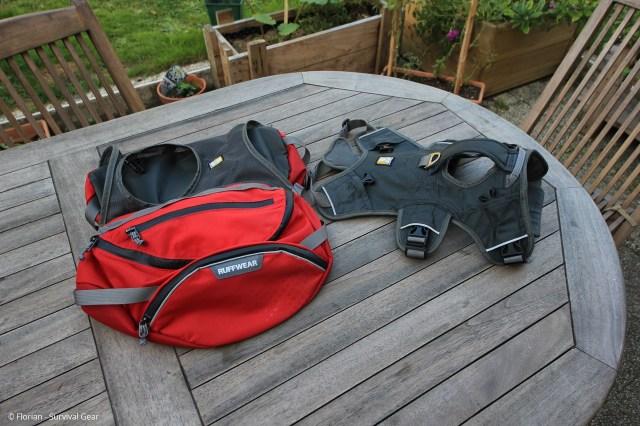Le harnais du sac Palisades peut s'utiliser sans les sacoches