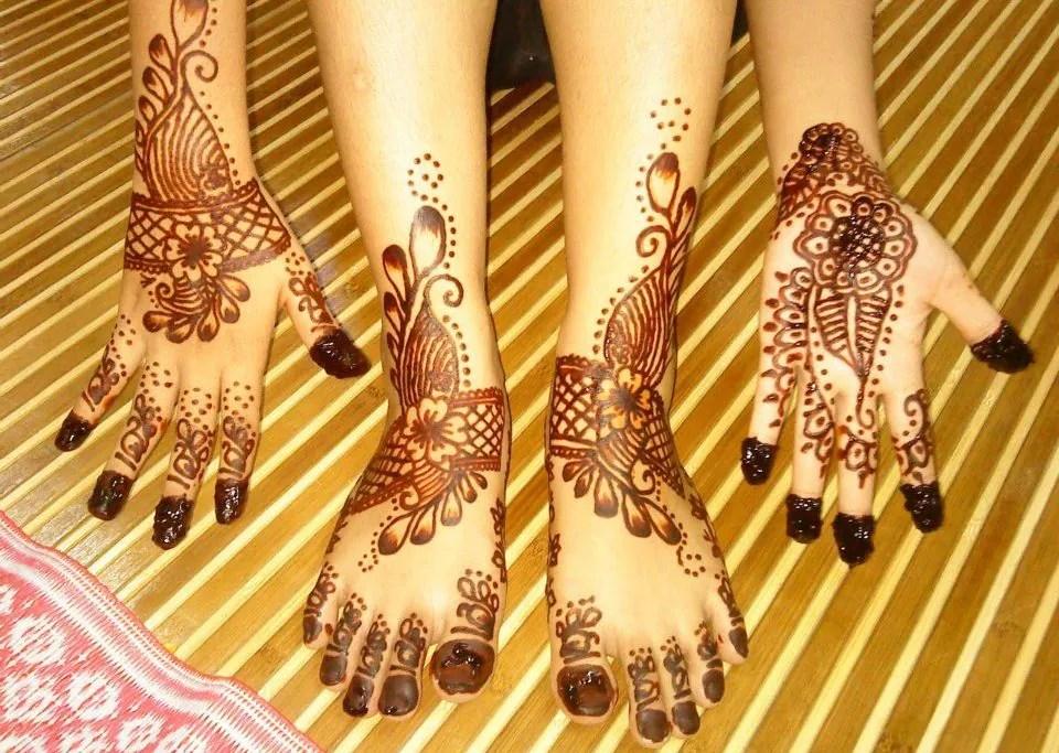 Gambar Tangan Henna Pengantin