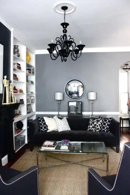 Tips Deko  15 Idea Dekorasi Ruang Tamu Dengan Warna Tema Hitam Putih  Wanistacom
