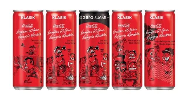 Coca-Cola Lancar Rekaan Tin Edisi Terhad Sempena Kemerdekaan Ke-60!