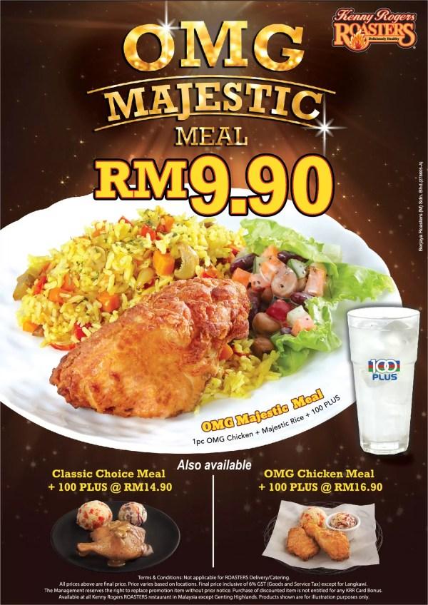 Promosi Baru OMG Majestic Meal Kenny Rogers Lebih Jimat ...
