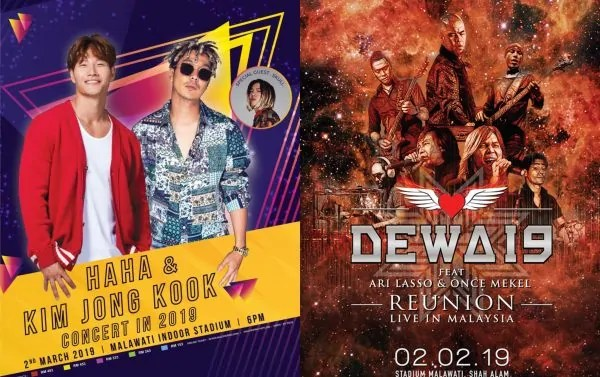Only In Malaysia! Senarai Konsert Paling Hangat Dalam Negara Sepanjang 2019