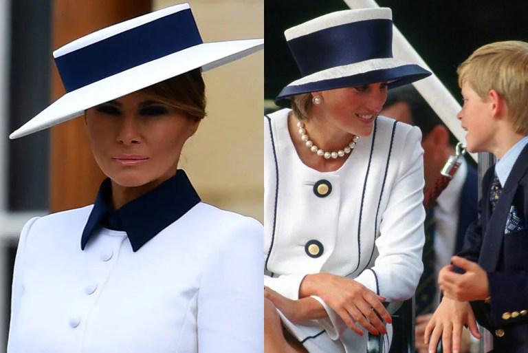 Melania Trump Anggun Sekali Bila Tiru Fesyen Puteri Diana (Gambar)
