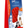 Pet+Me Dog Long Hair Brush Red