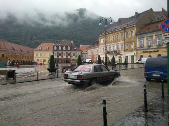 Brasov in rain