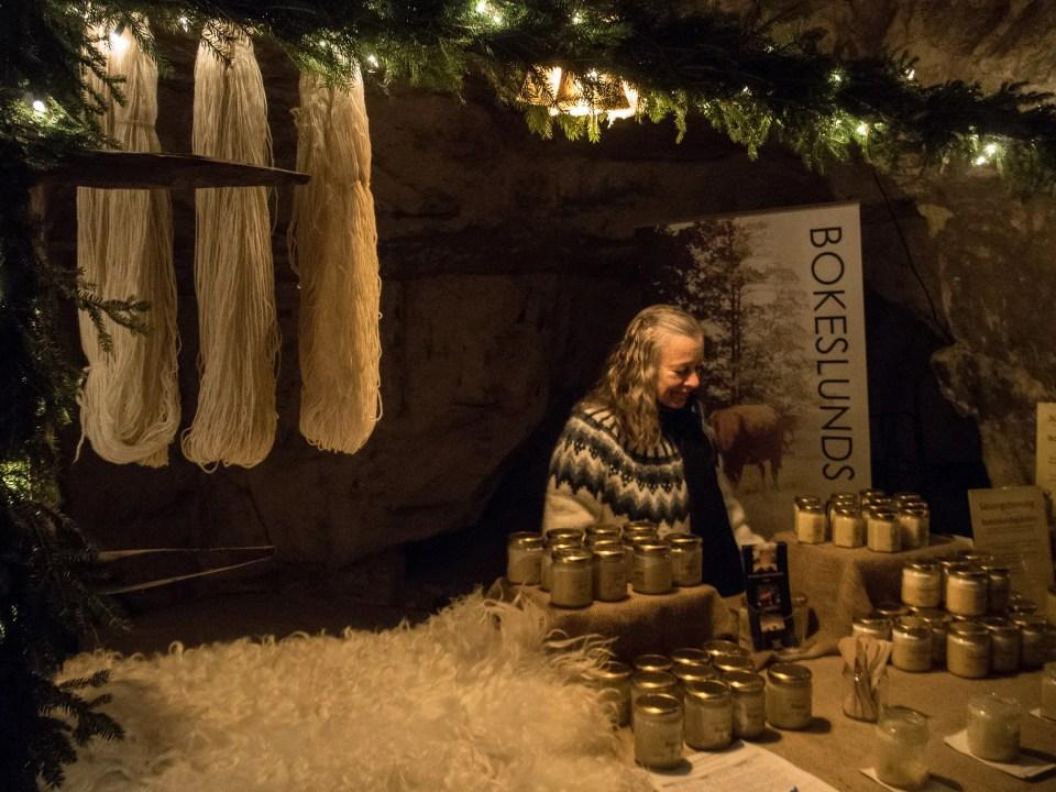 Tykarp cave Christmas market