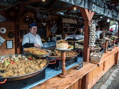 Food at Christmas Market in Budapest