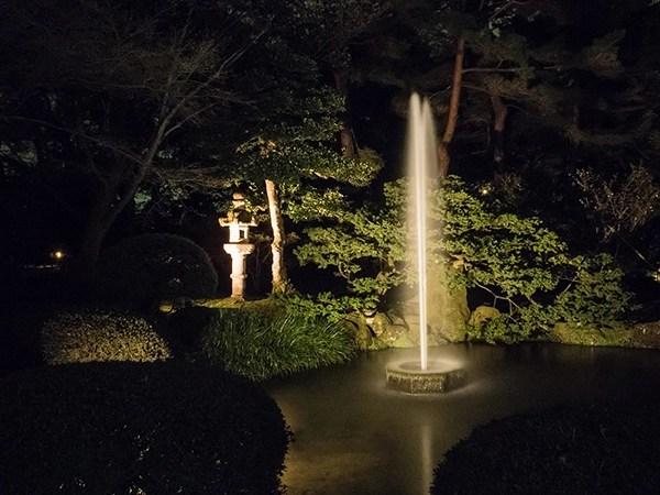 Kanazawa park during the night