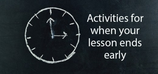 clock, activities for when your lesson ends early