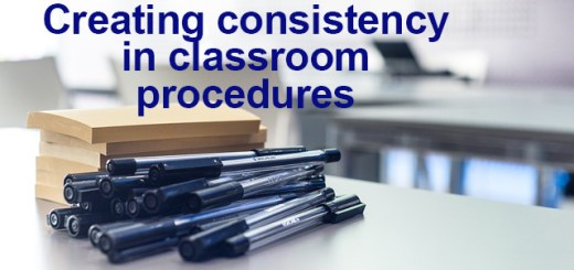 Creating consistency in classroom procedures