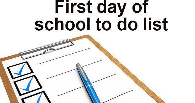 First day to do list