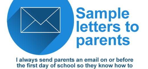sample letters to parents